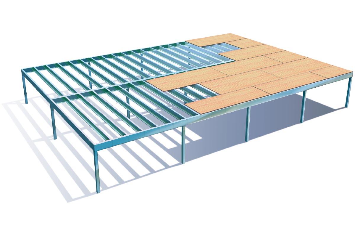 Duragal Flooring System Manning River Steel